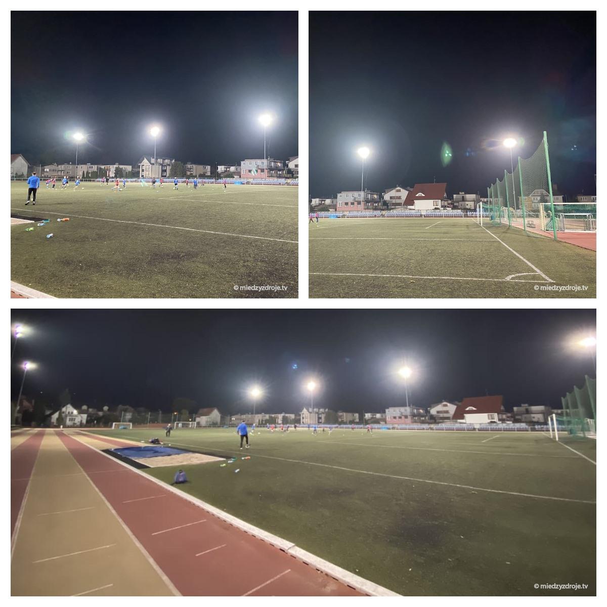 Stadion w Międzyzdrojach z nowoczesnym oświetleniem