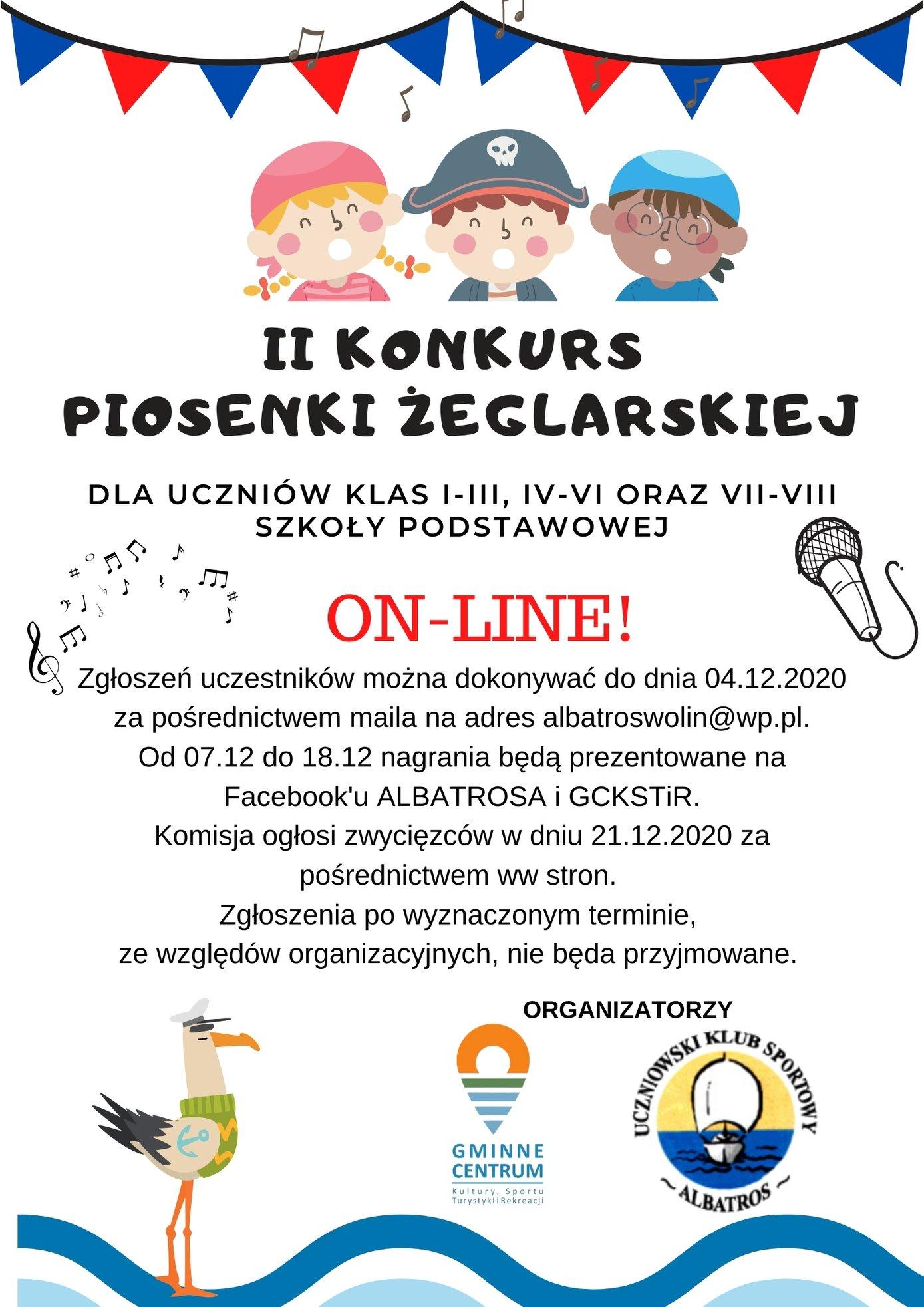 W tym roku II Konkurs Piosenki Żeglarskiej odbędzie się on-line