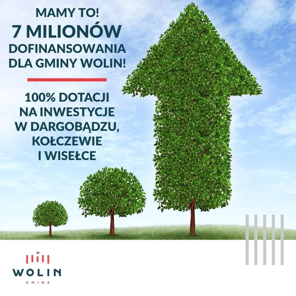 Wielkie inwestycje w Gminie Wolin. 7 milionów złotych dotacji!